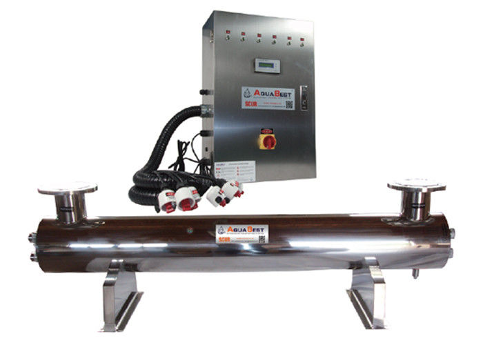 High flow SUS304 / 316L UV Disinfection system for cosmetics & electronics
