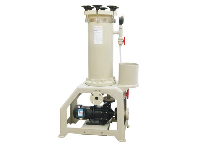 150 - 450 L / Min Flow Chemical Filtration System For Activated Carbon Plating Solution JM PVDF